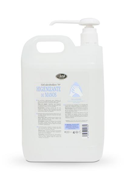Gel alcohólico higienizante de manos Cavall Verd 5000 ml